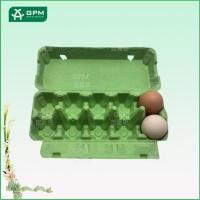 China 10 cell green paper pulp egg carton, high-end egg carton on sale