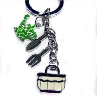 Quality silver tablewares keychain for sale