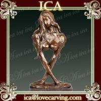 Buy cheap Indoor figure bronze abstract woman modern statue for home decoration from wholesalers