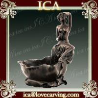 Buy cheap Nake lady flowerpot bronze statue sculpture for desk home decoration from wholesalers