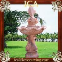 Buy cheap Outdoor garden small sunset red marble fish fountain from wholesalers