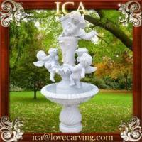 Buy cheap Hand carved white marble angel water fountain sale from wholesalers