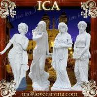 Buy cheap White marble garden four season lady statue stone beautiful handwork sculpture from wholesalers