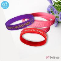 Products Silk screen printing logo custom silicone wristbands