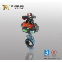 Quality Pneumatic limit switch with standard axle pinless Wafer Butterfly Valve for sale