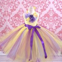 Quality English Garden Lilac and Yellow Tutu Dress for sale