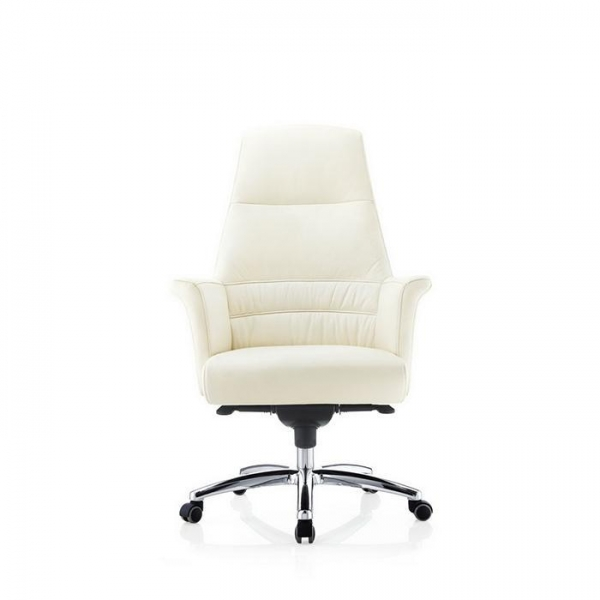 white color comfortable office chair manager chair 9167 of
