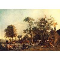 Quality Oil Painting the_farm for sale