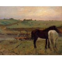 Quality Oil Painting Horses_in_a_Meadow for sale