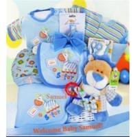 Quality Safari Baby Gift Basket in Blue for sale