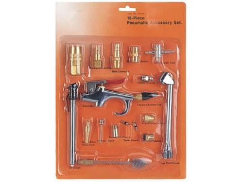 Dp 1902 18pcs air pneumatic accessories kit of dino power for Manguera para aire comprimido
