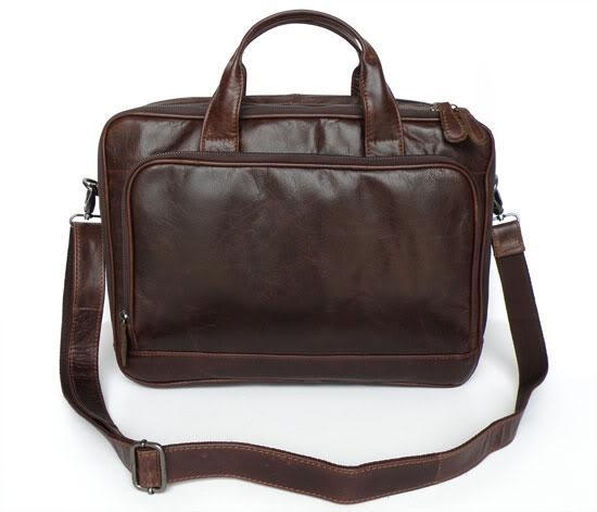 7005Q Fossil Chocolate Genuine Leather Menu0026#39;s Laptop Bag Briefcase For Sale - 16729143
