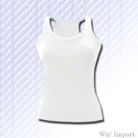 Sleeveless skinny t-shirt with swimmer back