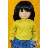China 18 American Girl Doll Outfit Turtleneck Top Yellow on sale