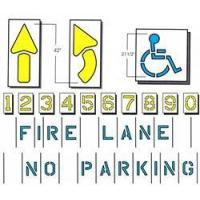Quality Parking Stencil Kit, Standard 9 item for sale