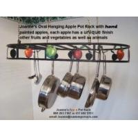 Pot Rack Oval with Hand Painted Apples18 x 36