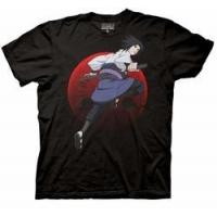 Quality Naruto Shippuden Sasuke with Sharingan mens t-shirt Black pre-order for sale