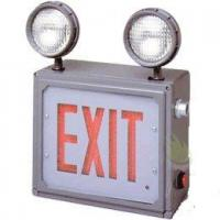 Buy Class 1 & 2 Division 2 LED Combo Direct View Exit Sign with Emergency Lights at wholesale prices