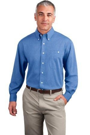 Port authority wrinkle resistant end on end dress shirt for Wrinkle resistant dress shirts