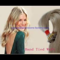 Quality Wholesale hand tied weft hair,all size and colors are welcomed for sale