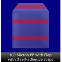 China 100 Micron PP with Flap with 3 self-adhesive strips on sale