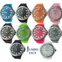 Quality 03531 Crystal Jumbo Face Jelly Watch for sale