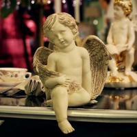 Buy cheap 820064 Cream colored sitting angel decoration from wholesalers