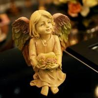 Buy cheap 820087 Cream colored sitting angel decoration from wholesalers
