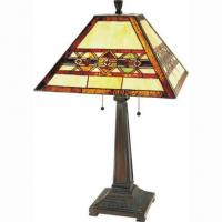 China Tiffany Table Lamps 27 Arts & Crafts Aztec Table Lamp on sale