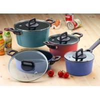Philos 4 Casseroles with Lid Dark Set Neoflam Nonstick Ecolon Cookware