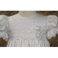 Quality 100% Cotton Sateen Christening Gown - CS10GS for sale
