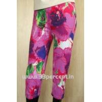 Quality 180 GRAM ELASTON SOFT,REACTIVE PRINTED 3/4 PANT WITH BODY FIT. for sale