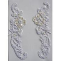 """Buy cheap 8.25"""" BRIDAL APPLIQUE WHITE from Wholesalers"""