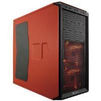 Quality Corsair graphite 230t mid-tower case (rebel orange) with window for sale