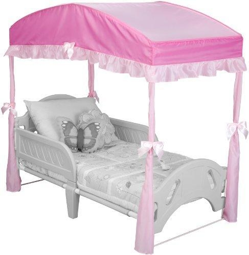 Delta Childrens Girls Canopy For Toddler Bed Pink Of