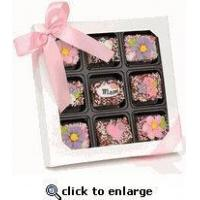 Quality Mother's Day Chocolate Dipped Krispies Gift Box of 9 for sale