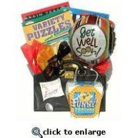 Quality low priced Get Well Gift Basket With Books for a guy or office co-worker for sale