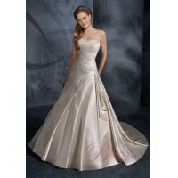China Cheap Wedding Dresses Online Ball Gown Strapless Embroidery Satin Lace IN5829 on sale