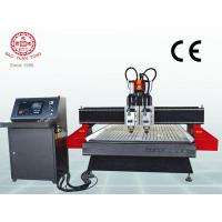 Quality + Wood CNC router English Pneumatic double head wood router BMG1325-ATC for sale