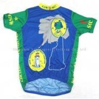 Quality 140gsm Polyester Wear with Fully Sublimated Custom Printed Cycling Jerseys for Men for sale