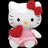 China Ty Beanie Babies 8 Hello Kitty Red Heart on sale