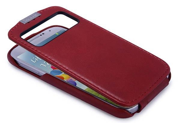 Buy iCarer Samsung Galaxy S4 Flip Luxury Series Corrected Grain Leather Case Cover at wholesale prices