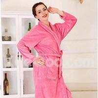 Textile Bath Robe, High-class Red Pink Bear Garment Bathrobe Thicken