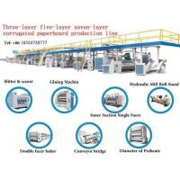 Quality Three-layer five-layer seven-layer corrugated paperboard production line for sale
