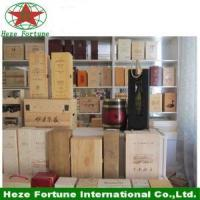 Pine or paulownia wooden wine box with simple printing