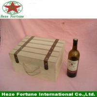 Customized simple wood box for glass bottles