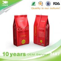 Custom Printing Aluminum Foil Coffee Beans Bag Packaging With Valve
