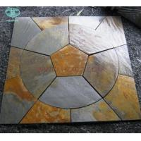 Quality Copper/Rusty Slate Circle For paving for sale