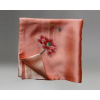 Quality Handmade Embroidered Square Silk Scarves Handkerchief and Small Neck Scarves As Gift for sale