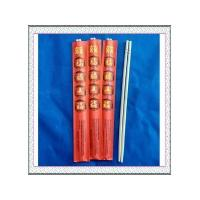 "9""Round bamboo chopsticks with red envelope"